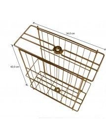 DADANT TANGENTIAL HONEY EXTRACTOR, manual drive, for 2 hive frames or 4 super frames, stainless basket Ø 370 mm (table top)