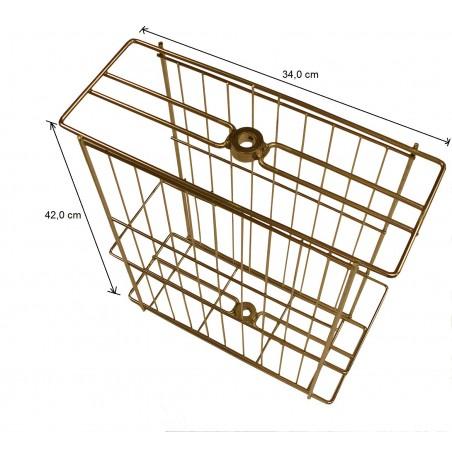 CESTELLO inox per smelatore tangenziale Dadant B. da 4 favi melario o 2 da nido - Smelatore Ø 370 mm