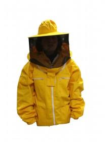 Blusón para apicoltura con careta redonda en velo de tul