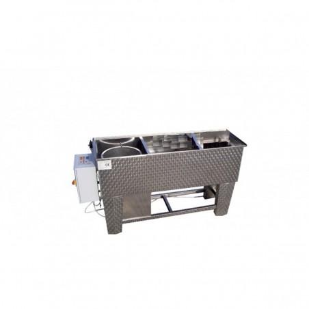 BANCO inox per disopercolare professionale con centrifuga per opercoli da 30 L elettronica