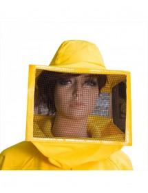 CARETA para apicoltura cuadrada con malla galvanizada pintada, lona de algodón