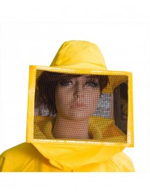 MASCHERA a cappello quadrata con rete zincata verniciata,tela di cotone