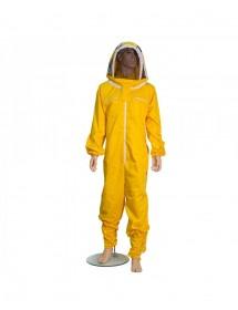 combinaison pour apiculture en coton jaune sans masque