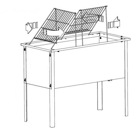 BANCO inox D.B per disopercolare con vasca da cm.100x48x40