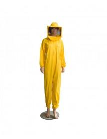 combinaison pour apiculture en coton jaune - no masque
