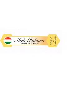 """SIGILLO DI GARANZIA ETICHETTA PICCOLO """"MIELE ITALIANO"""" CONF. 100 pezzi"""