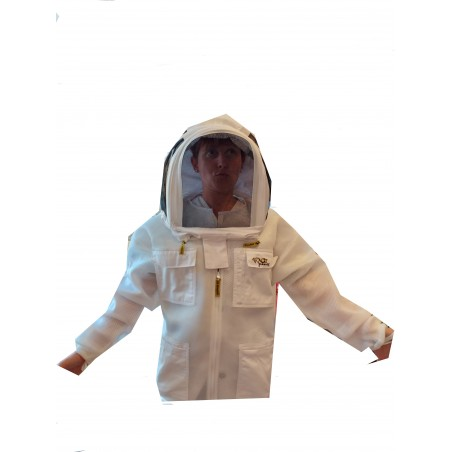 Jacket in mesh air fabric with astronaut mask