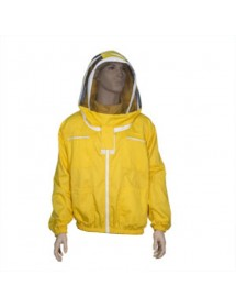 CAMICIOTTO in cotone giallo CON MASCHERA ASTRONAUTA a rete per apicoltura