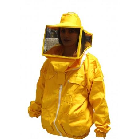 Blouson pour apicolture à col pro compléte de masque rond