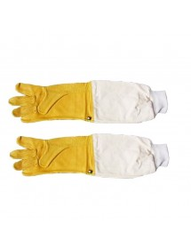 Leather gloves, professional strong, for beekeeper