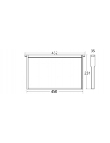 FRAME FOUNDATION FOR DEEP HIVE BODY H23,1MM (~9 1/8'' LNG HOFFMAN) ALL PLASTIC ANEL PS UNWAXED