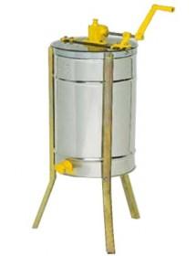 SMELATORE TANGENZIALE MANUALE LANGSTROTH per 2 favi con cestello inox diametro 370 mm (con gambe)