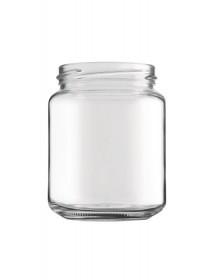 VASO in vetro CILINDRICO LISCIO 390 ml per MIELE 500 g con CAPSULA TWIST-OFF T70