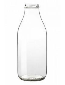BOTTIGLIA in VETRO LATTE  500 ml con CAPSULA TWIST OFF T43