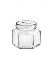 VASO In Vetro ESAGONALE 106 ml Con Capsula TWIST-OFF T53